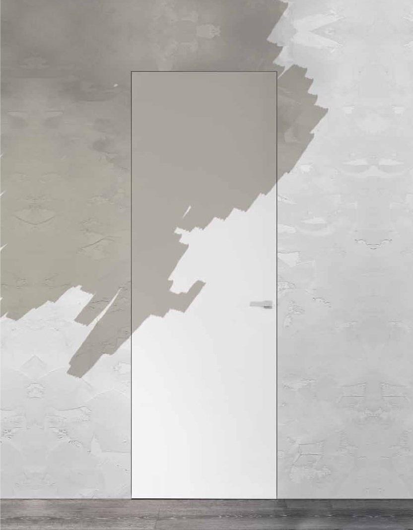Lo stesso colore a porta e parete